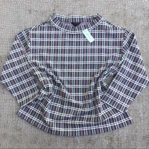Plaid Crewneck Pullover NWT